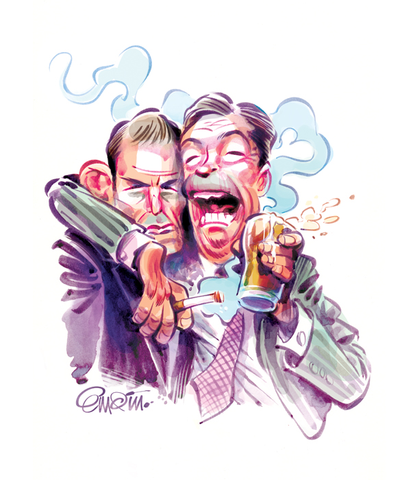 Nigel Farage & Tony Abbott / Illustration © Anton Emdin 2014.  All rights reserved.