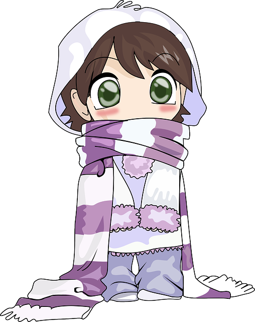 Chibi Girl in Scarf.png