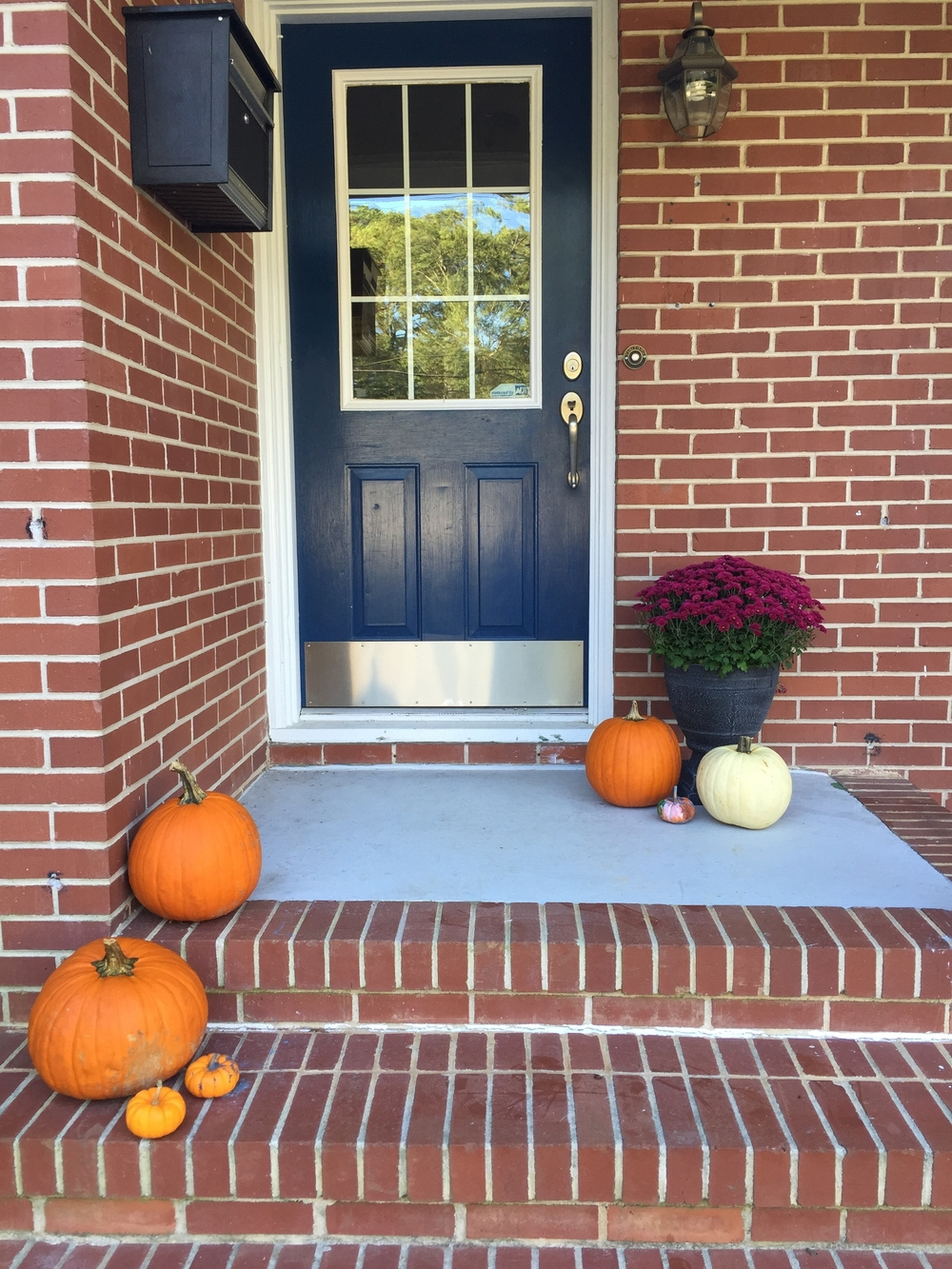 sad little fall porch