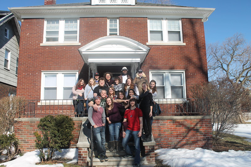 THe 2015 Urban plunge team at the hope hospitality house.