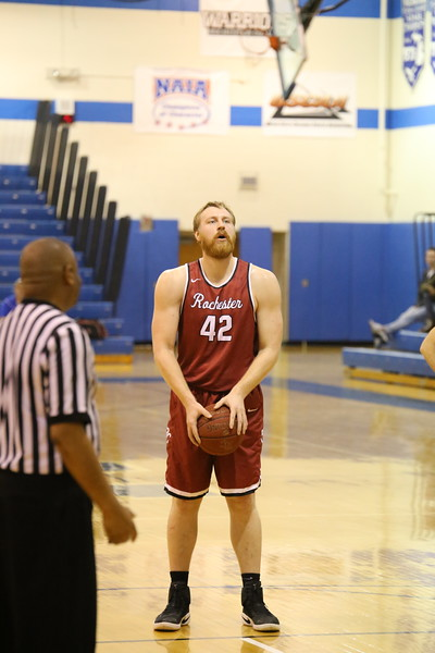 Vik Merkevicius attempts a free throw.