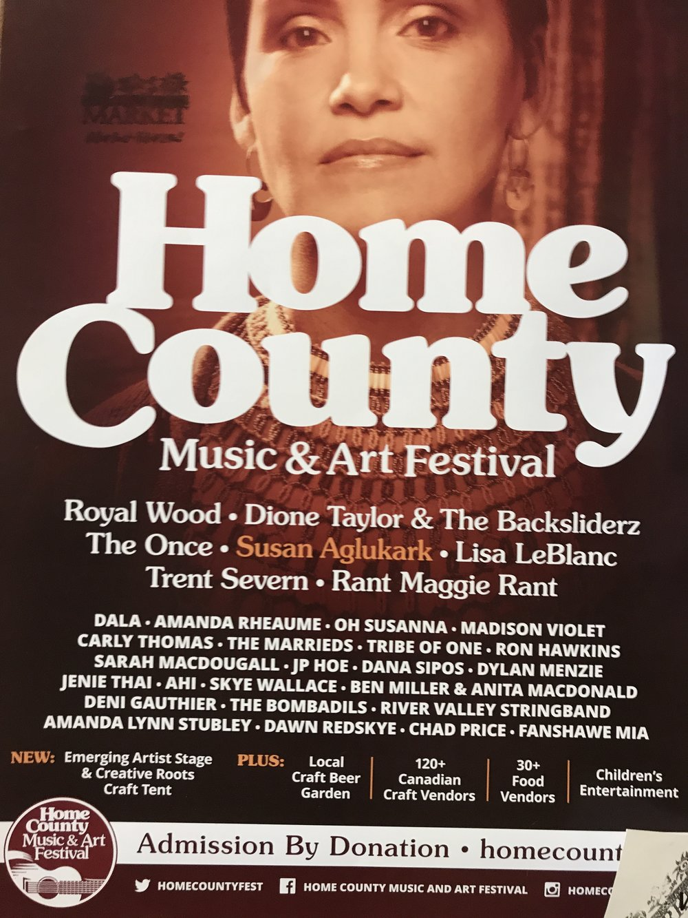 Home County Music Festival poster