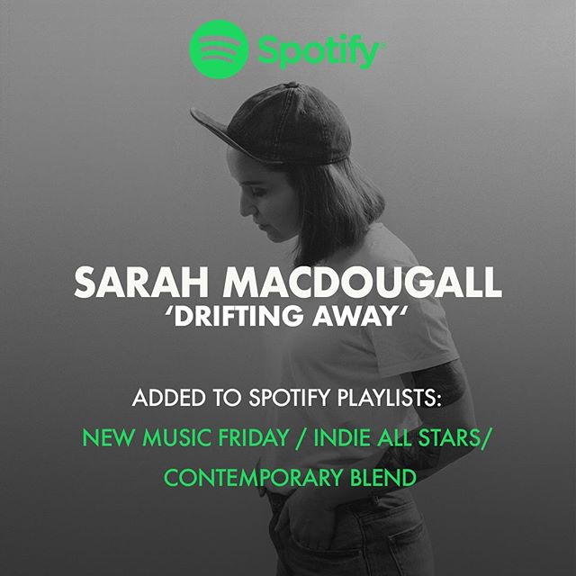 Wow wow wow! . @spotifycanada just added #DriftingAway to 3 editorial playlists! #newmusicfriday #indieallstars #contemporaryblend ! I wrote this song with @thunderdog1972 and @garrisonstarr . 🙌🙌 Thank you @spotifycanada for your amazing support and for taking a chance on my music. ❤️