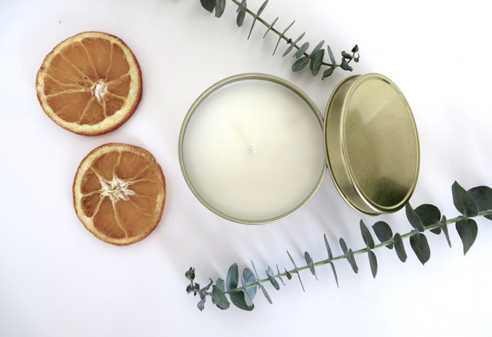 Revitalize Natural Tin Candle