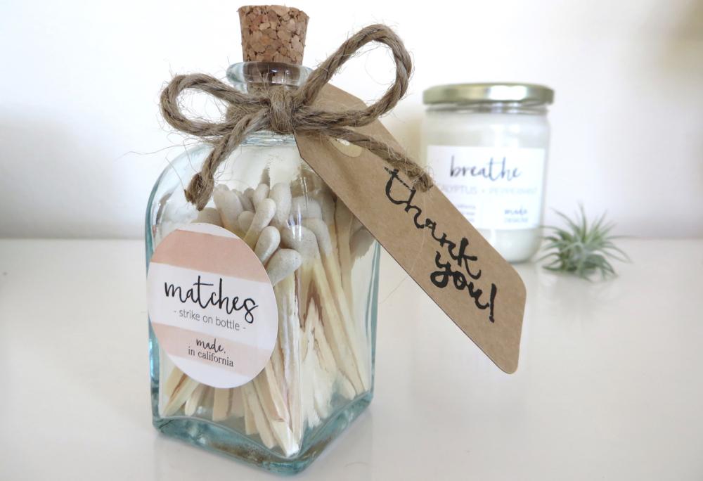 Apothecary Matchstick Jar