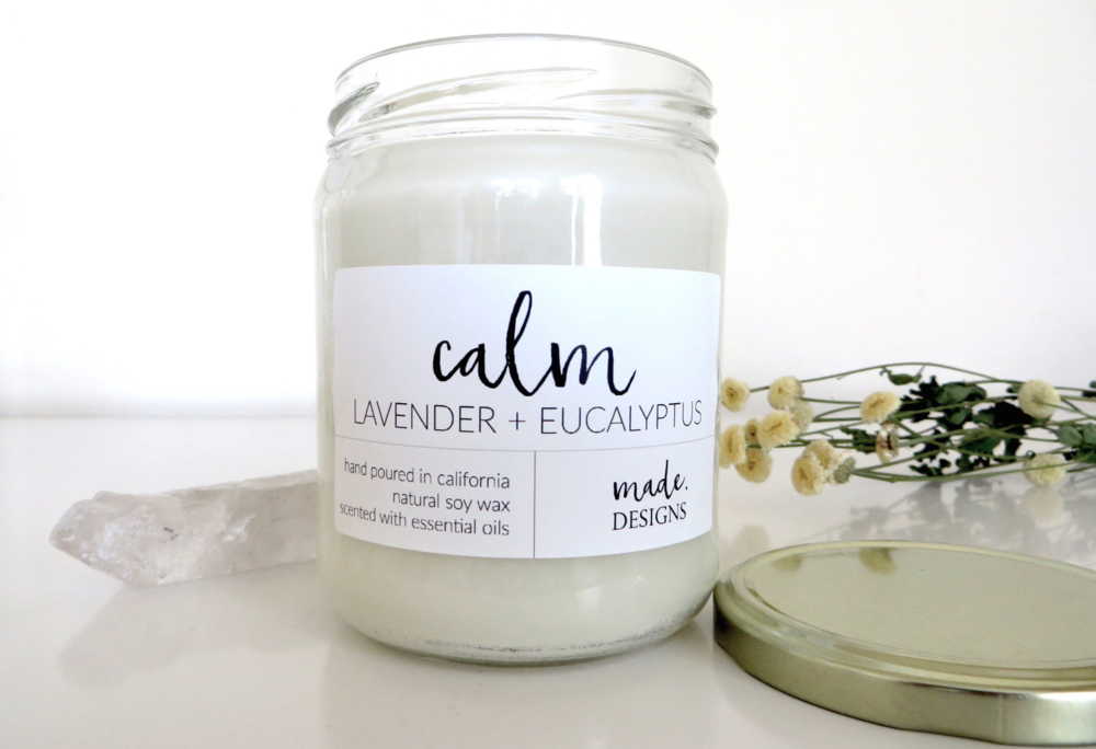 Calm Natural Jar Candle