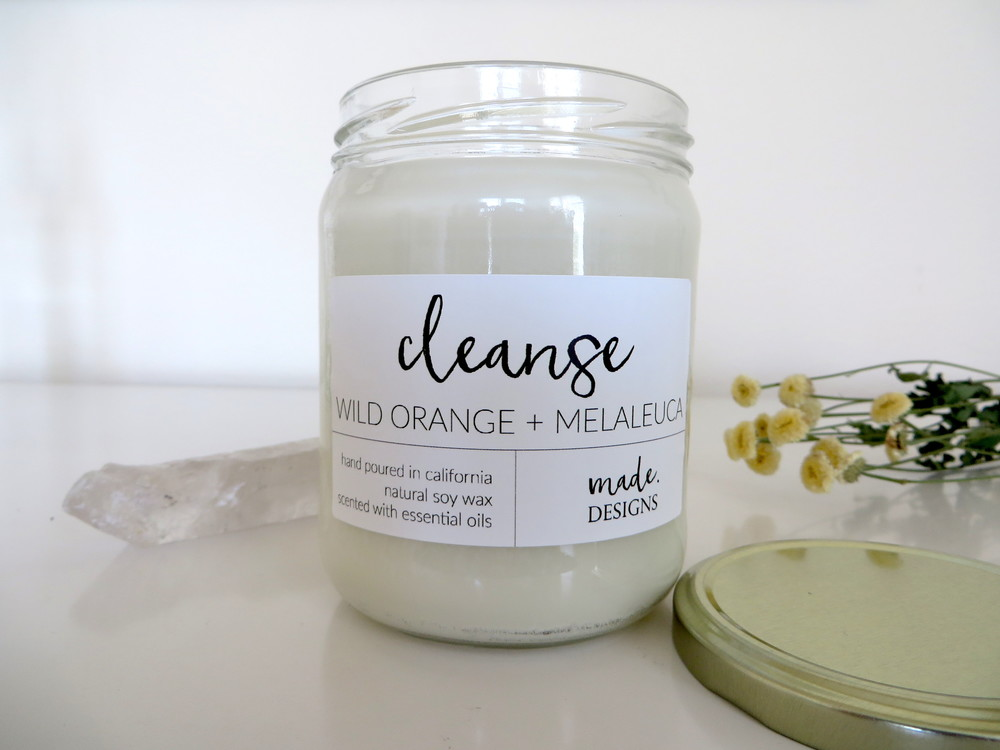 Cleanse Essential Oil Natural Candle