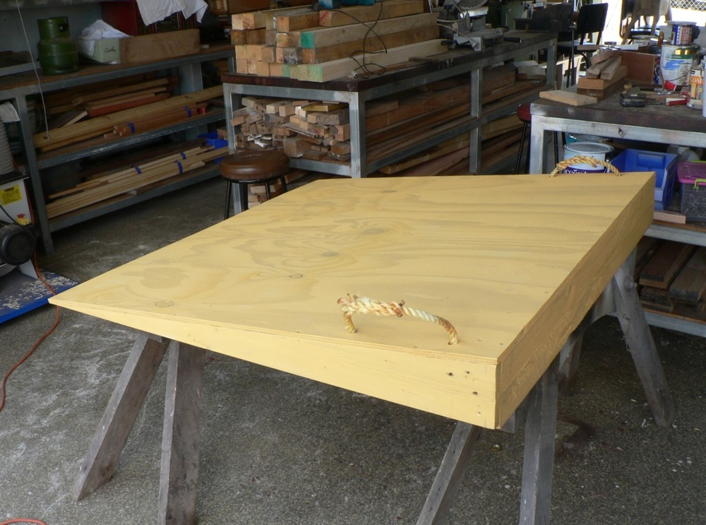 A ramp coming off the production line at Yeppoon Men's Shed