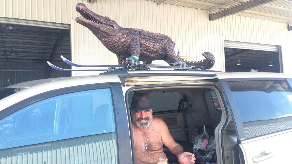 Me & Gary the croc