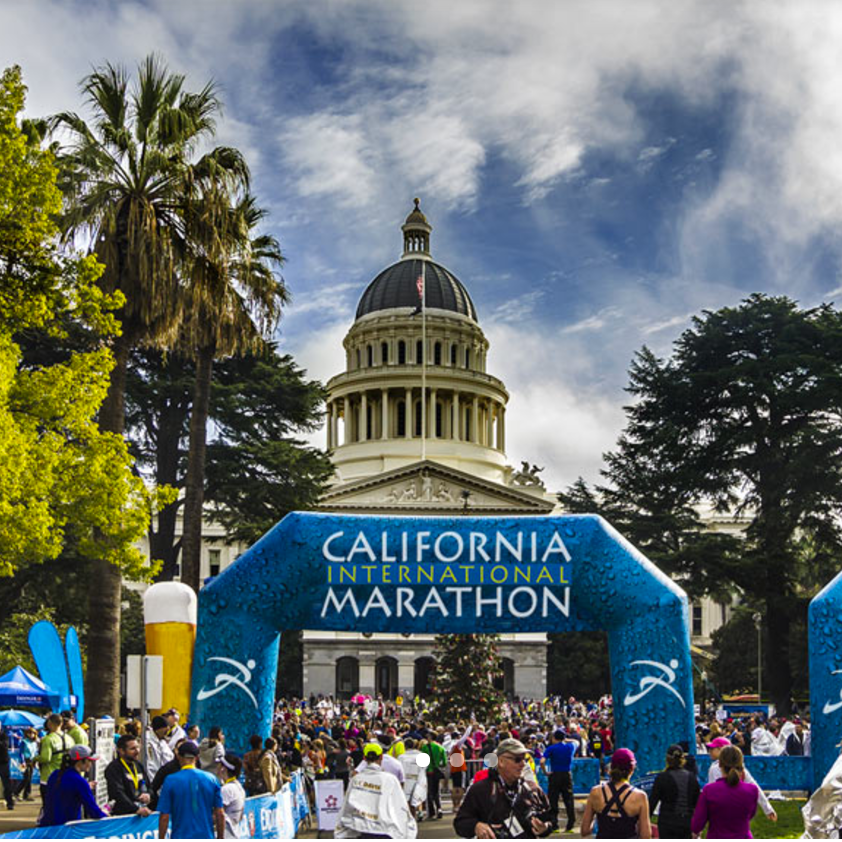#1 Boston Qualifier ♦ Spectacular State Capitol Finish ♦ Downhill to Downtown Sacramento♦ U.S. Marathon Championship