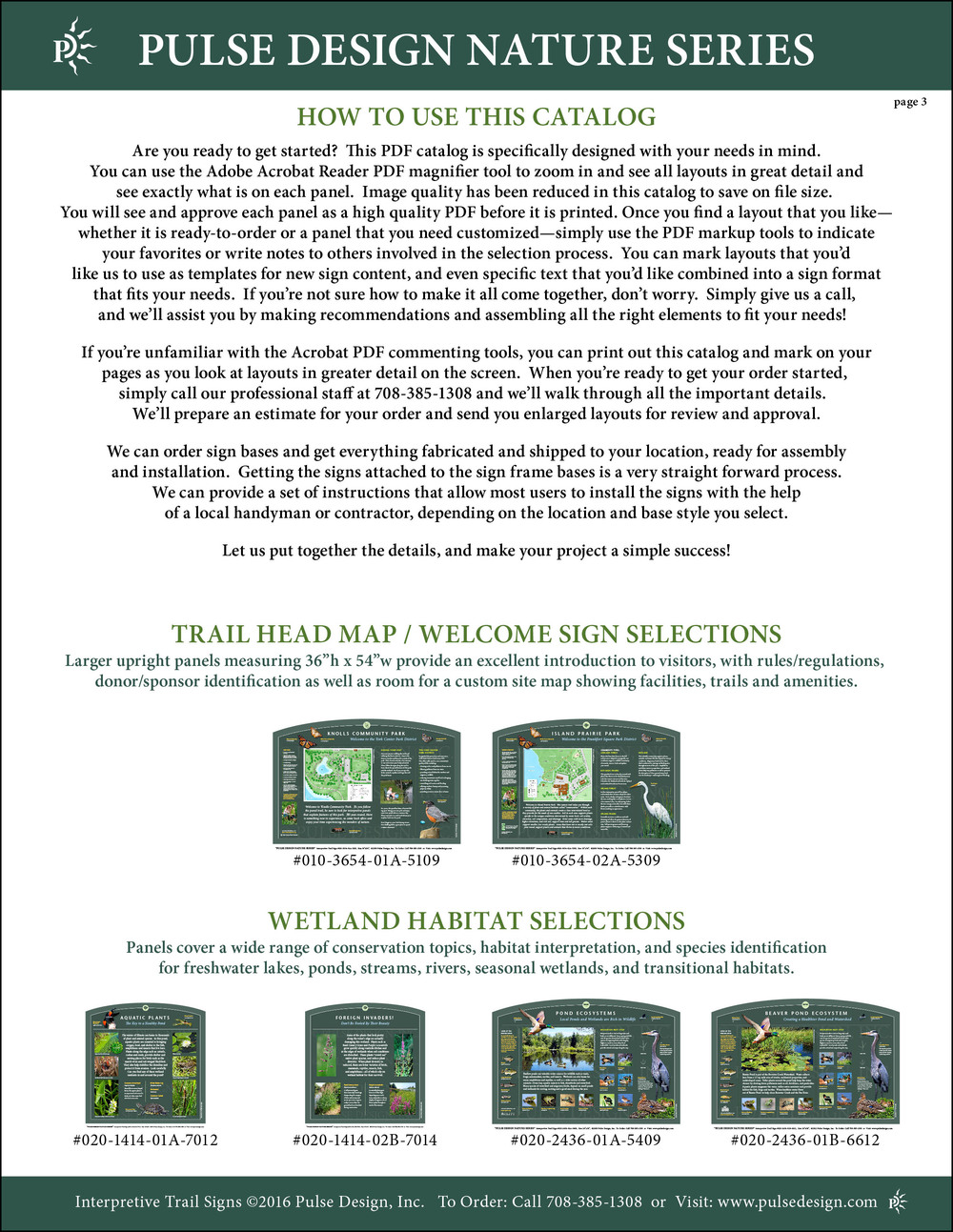 Interpretive Nature Trail Sign Catalog 4