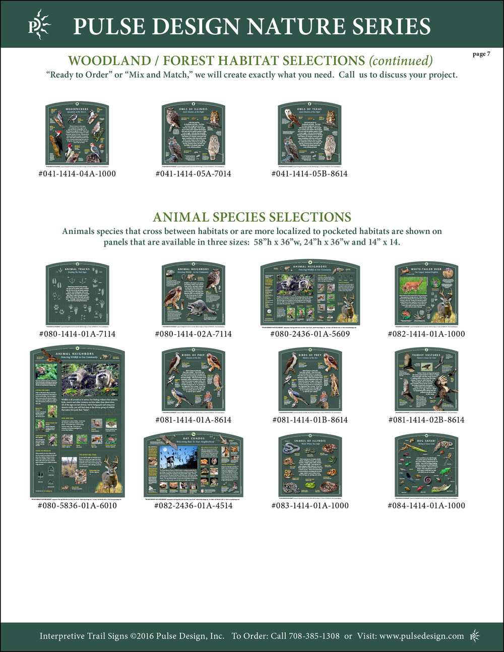Interpretive Nature Trail Sign Catalog 8