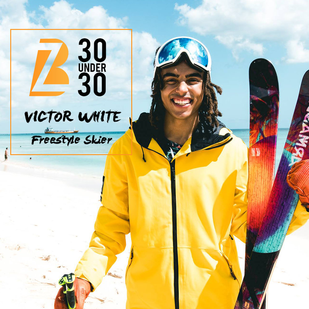 Victor White - Victor White aims to put his name on history's page by becoming Barbados' first ever Winter Olympic athlete, which lands him on our 30 Under 30 list. The young freestyle skier is the island's first freeskier and has already started his journey by becoming the first Bajan to compete in the Slope Style World Cup. He has also represented the island in the Swedish National Championships, making it all the way to the finals where he placed 8th. Even though White did not make it to the 2018 Winter Olympics as he planned, he nevertheless has his sights set on the 2022 Winter Olympics. White aims to honour his father's memory and do his country proud by bringing home an Olympic Gold medal.