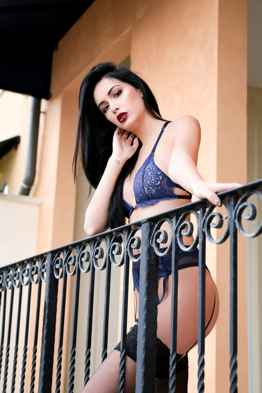 Lazy Girl Lingerie - Alluna Lingerie set, navy blue, lace, suspender set, sexy lingerie, lace lingerie, handmade lingerie, indie lingerie