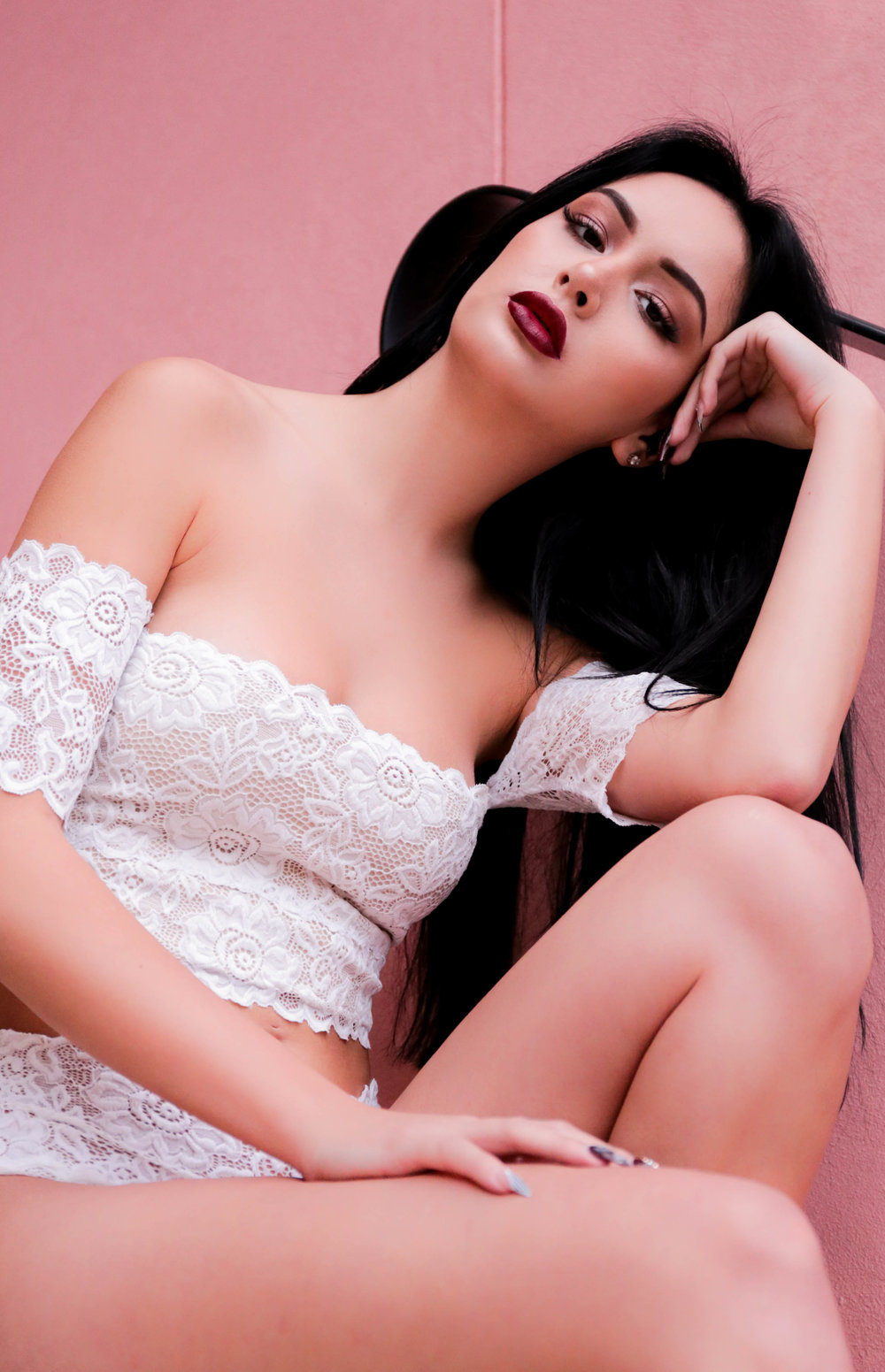 Lazy Girl Lingerie - Ivy Lingerie Set, off the shoulder crop top, white lace, bridal, sexy lingerie, lace lingerie, handmade lingerie, indie lingerie