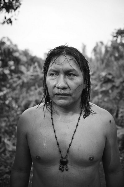 Manaria Ushigua, a member of the Sapara indigenous group, healer and activist protecting his people, their land and traditions. Photo Credit Brian Bowen Smith