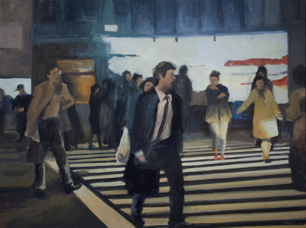 "Crosswalk IV, Oil on Canvas, 36 x 48"", 2010"