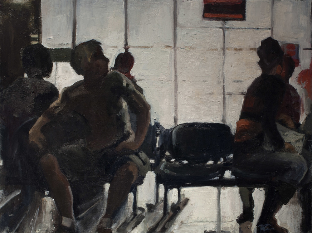 """Airport, Oil on Board, 18 x 24"""", 2010"""