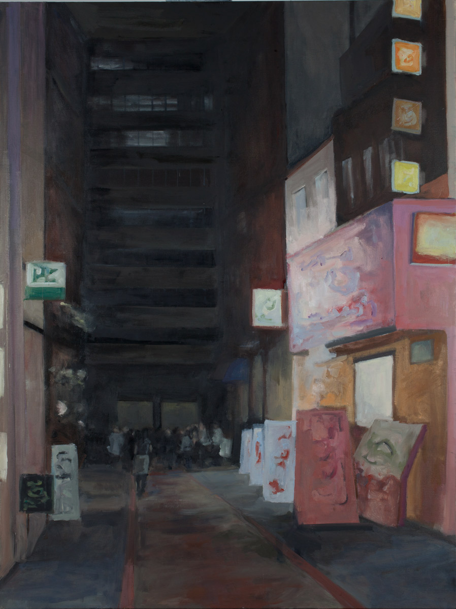 """Alley, Oil on Canvas, 48x 36"""", 2010"""