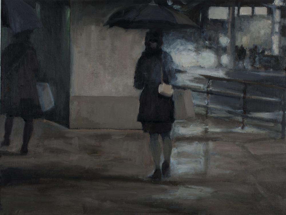 "ArchwayIII, Oil on Board, 18 x 24"", 2010"