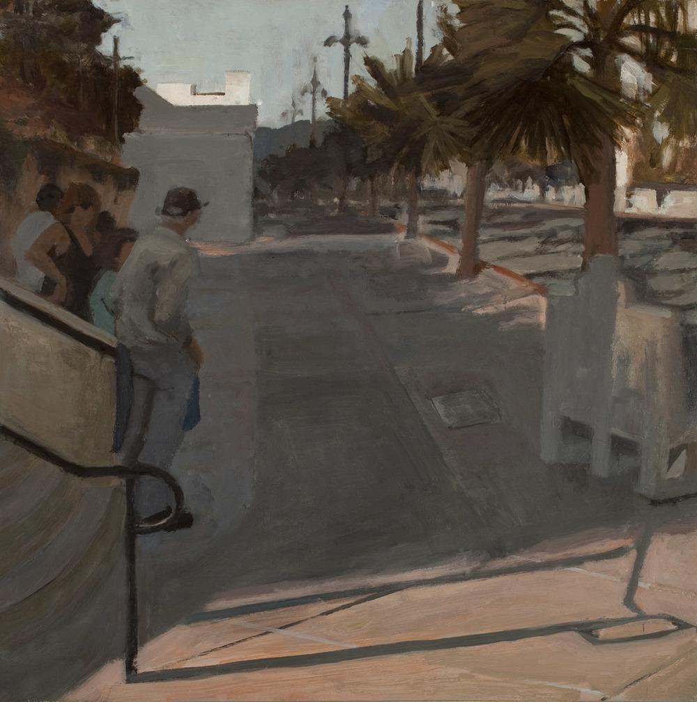 "Union Station I, Oil on Board, 16x 16"", 2010"