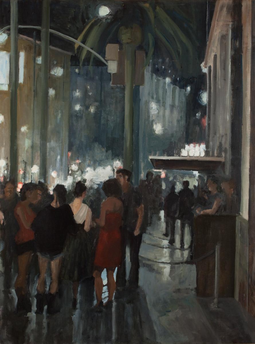 """Sunset Blvd, Oil on Canvas, 48x 36"""", 2010"""