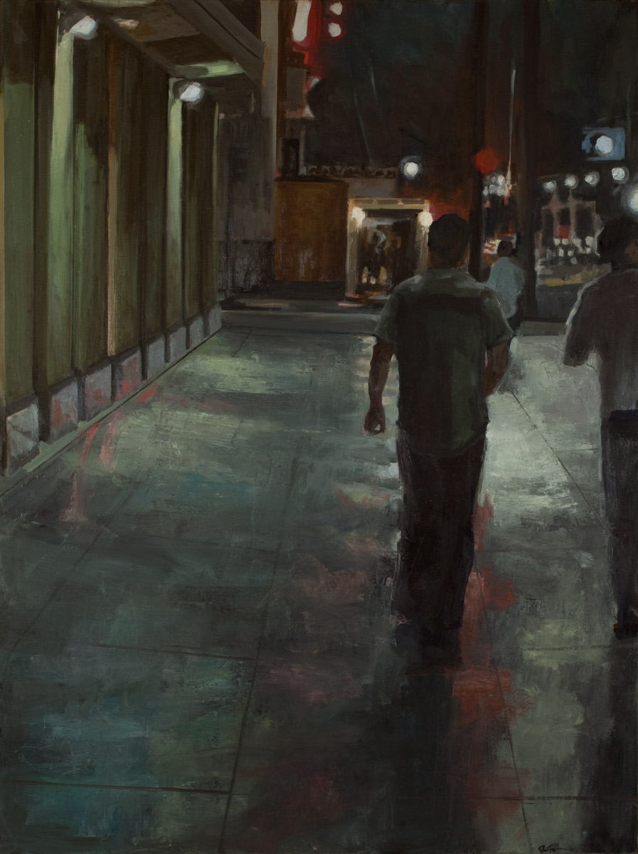 """Alley I, Oil on Canvas, 48x36"""", 2010"""