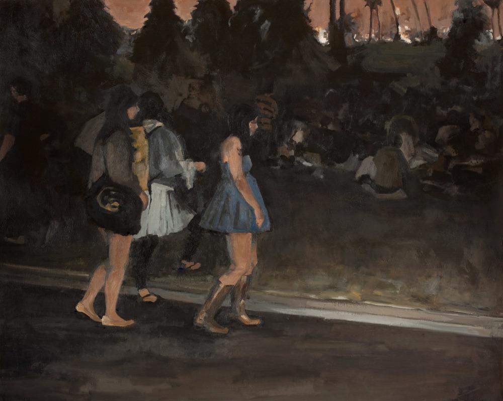 """Hollywood Cemetery, Oil on Canvas, 48x 60"""", 2010"""