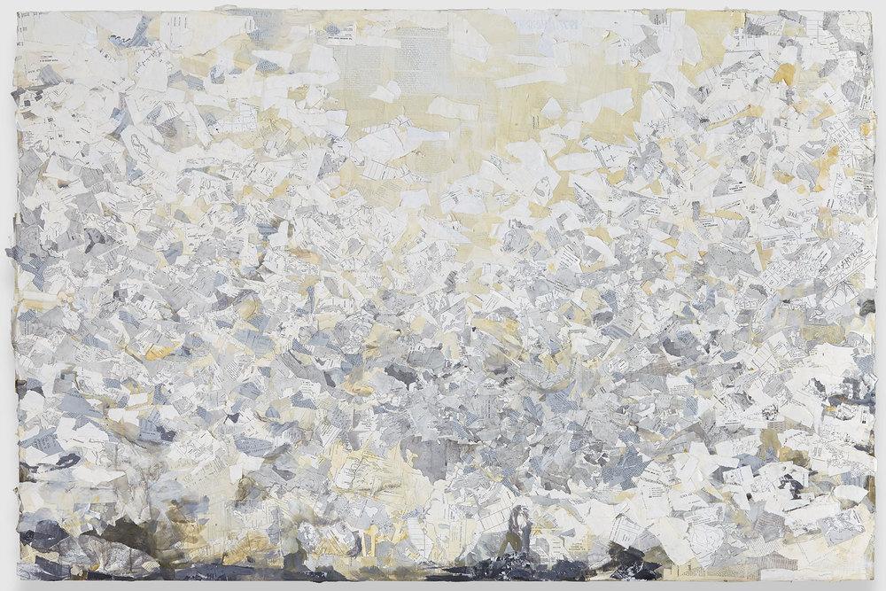 """Tillage, mixed media on panel, 48 x 72"""", 2014"""