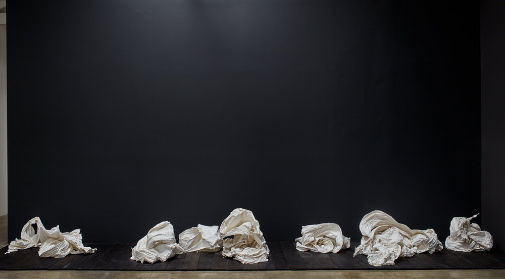 Form-Body Poems  1-8, various dimensions, plaster and cotton, 2016