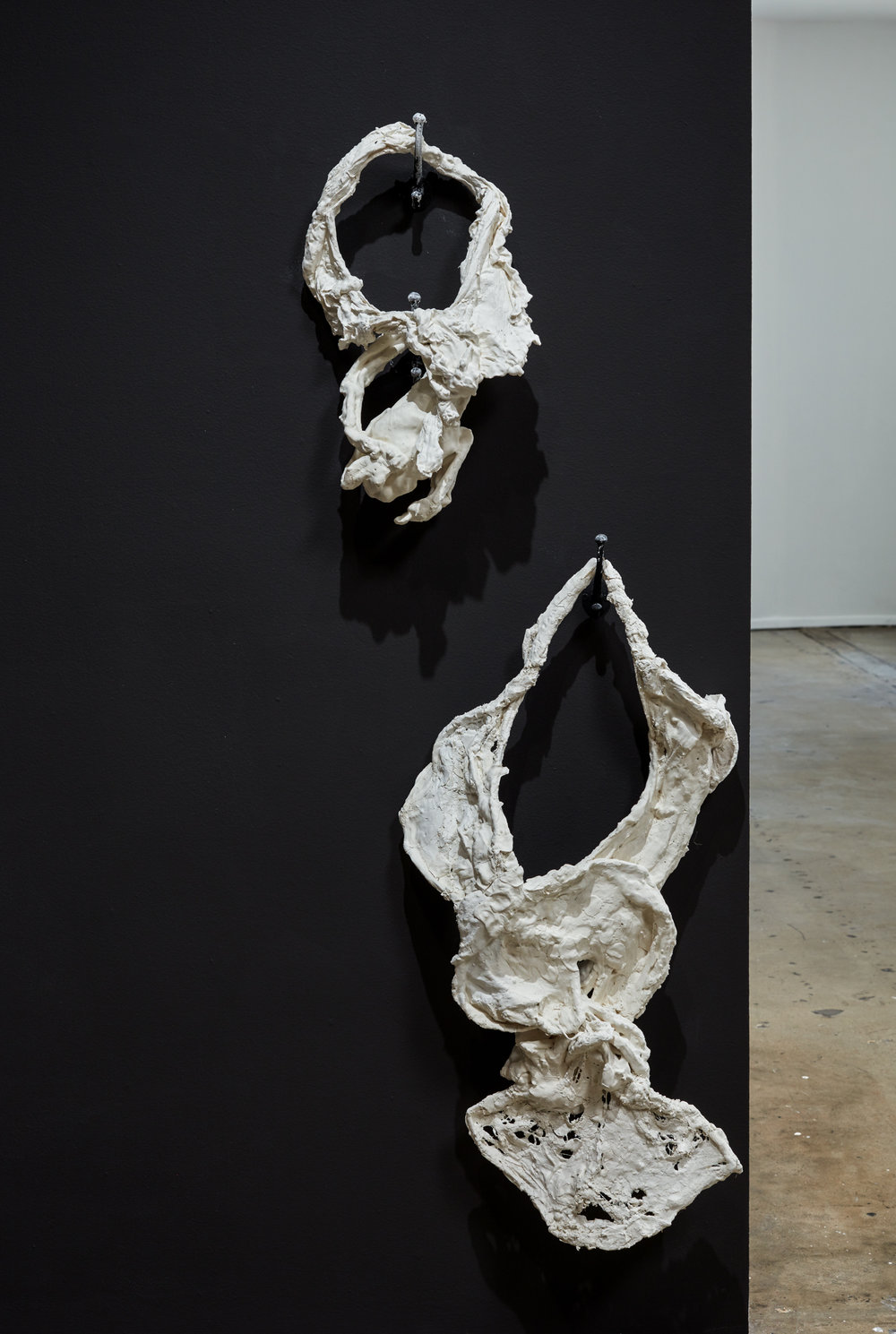 "Form- Body Poem 10  48x 28"" , plaster and cotton, 2016"