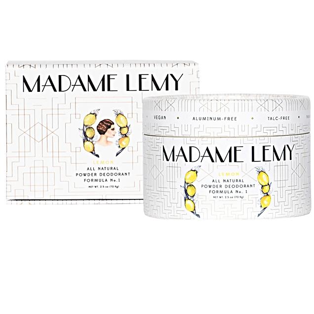 All Natural Powder Deodorant in Lemon