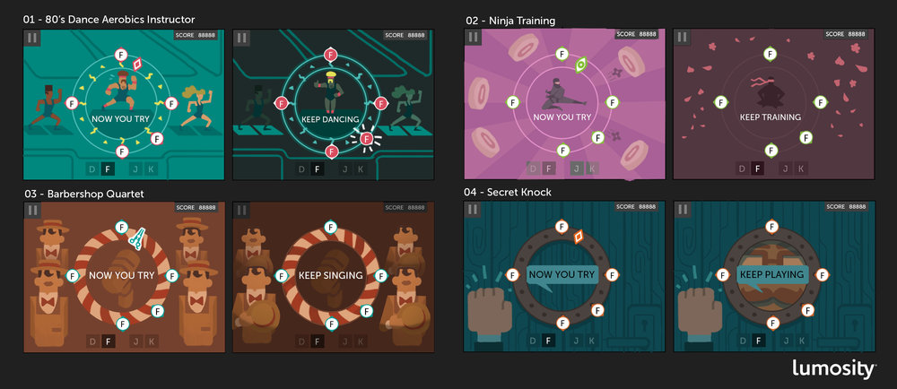 Theme concepts for Feel the Beat.