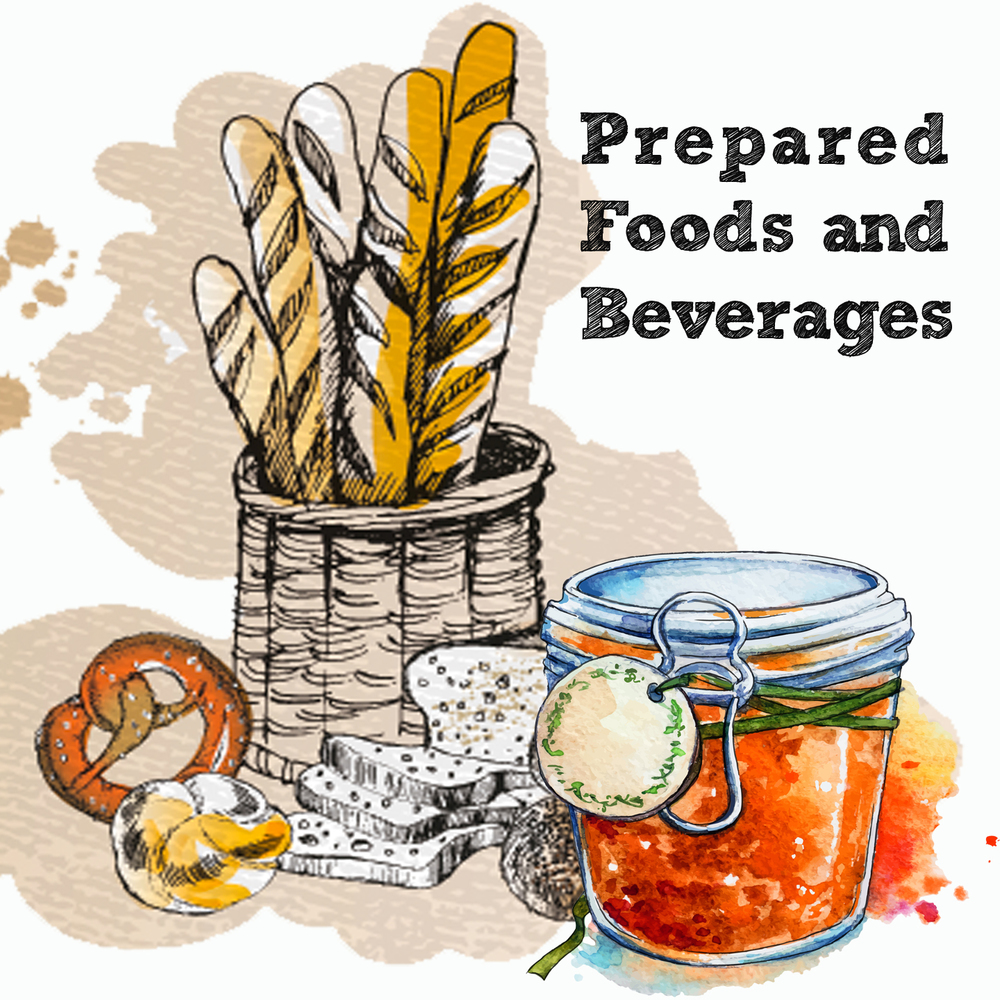 - You make baked goods, jams, spreads, fermented or preserved foods and drinks that are sold packaged.