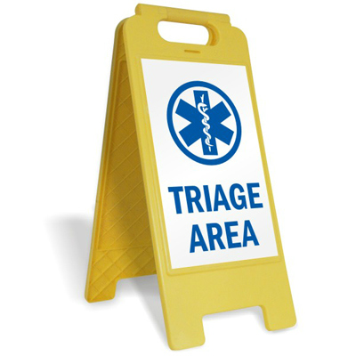 Email Processing and Triage Floor Sign