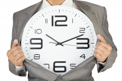 Time Management Businessman Suit Clock