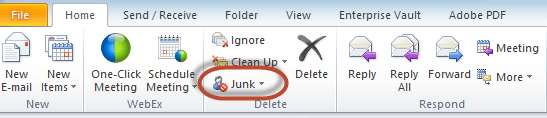 Outlook Junk Filter Image 1