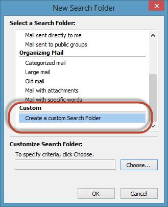 Outlook Search Folders Screenshot 4