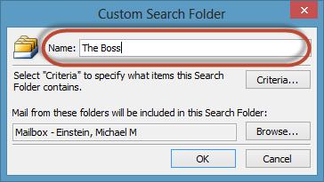 Outlook Search Folders Screenshot 5