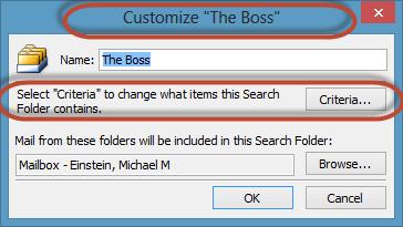 Outlook Search Folders Screenshot 8