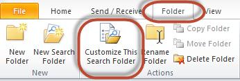 Outlook Search Folders Screenshot 9