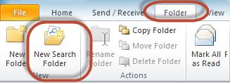 Outlook Search Folders Screenshot 1