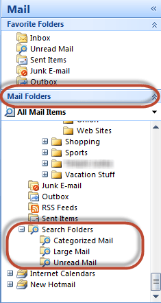 Outlook Search Folder Image 1C