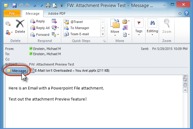 Outlook Attachment Preview Screenshot 5