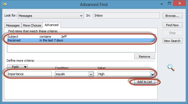 Outlook Advanced Find Screenshot10