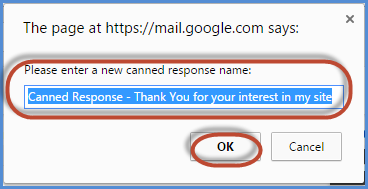 Gmail Canned Response Screenshot6