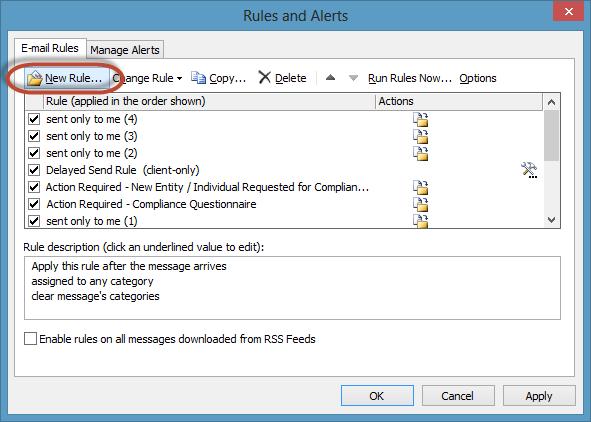 Junk Mail Rule Screenshot1