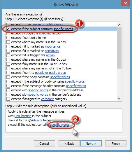 Junk Mail Rule Screenshot7