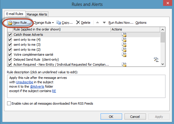Outlook Delay Send Rule Screenshot1