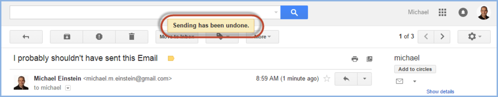 Gmail Undo Send Screenshot6